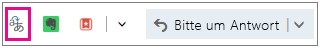 Outlook.com mit hervorgehobener Übersetzer-Add-In-Schaltfläche