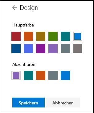 Anpassen der Designfarben Ihrer SharePoint-Website