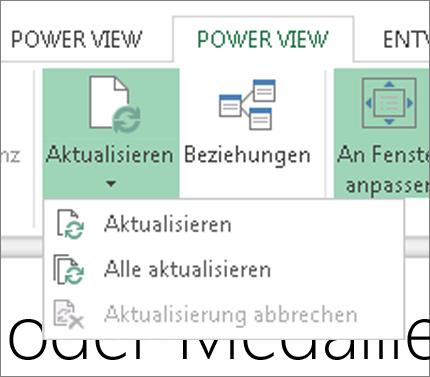 Power View-Schaltfläche 'Aktualisieren'