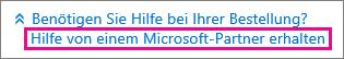 """""""Unterstützung von einem Microsoft-Partner anfordern"""" auswählen"""
