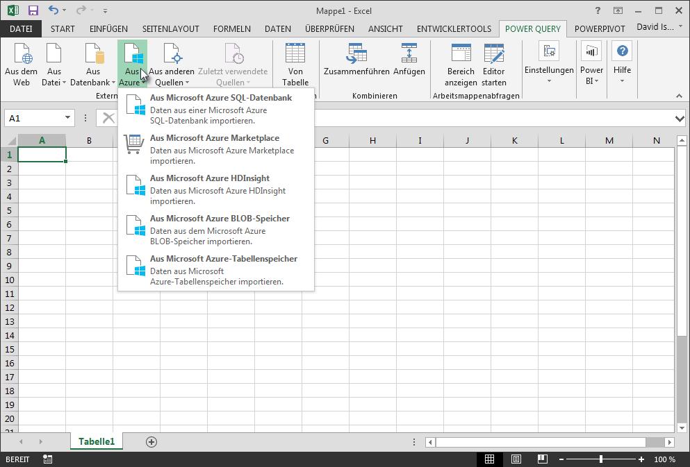Externe Daten aus Azure abrufen