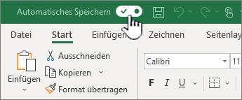 AutoSpeichern-Schalter in Excel