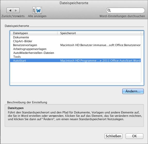 Dateispeicherort