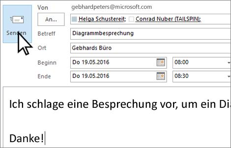 Senden einer persönlichen E-Mail-Einladung