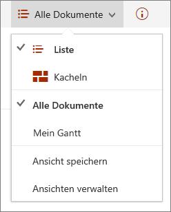 """Menü """"Ansichten"""" in Microsoft Edge"""