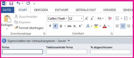Der Dokumentinformationsbereich zeigt Textfelder in einem Formular zum Sammeln von Metadaten von Benutzern an.