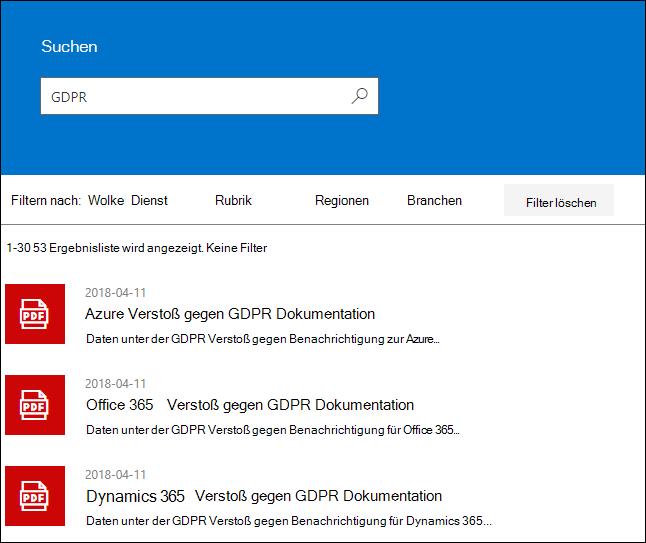 STP Search Results - Suchbegriff GDPR
