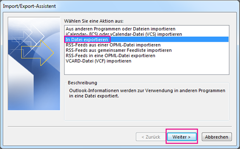 Exportieren Von Kontakten Aus Outlook Office Support