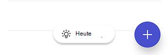"""Screenshot von To-Do unter Android mit dem Glühbirnensymbol und dem Text """"Für heute""""."""