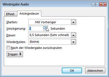 Audio verzögern