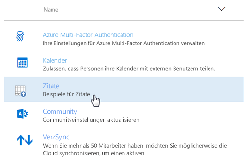Im Office 365 Admin Center bereitgestelltes Add-In