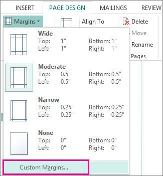 Benutzerdefinierte Seitenränder zum Drucken