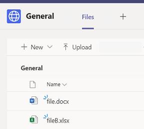 Freigeben von Dateien aus einem Gruppen-Chat in Teams.