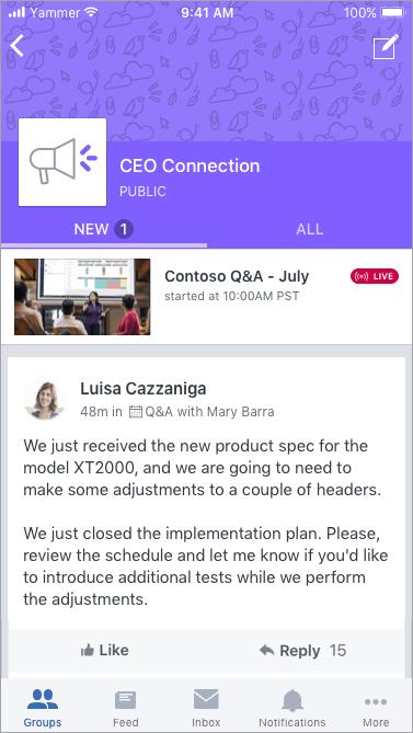 """Live-Event-Banner bei Verwendung von """"jammern"""" auf mobilen Geräten"""