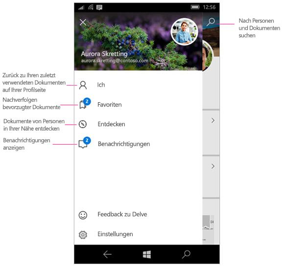 Delve für Windows Mobile
