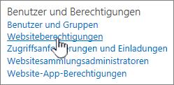 """Menüelement """"Benutzer und Berechtigungen"""""""