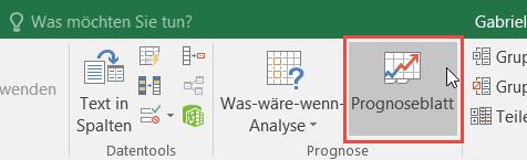Erstellen Einer Prognose In Excel Für Windows Excel