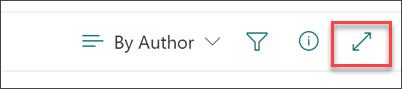 Screenshot der Taskleiste zum Erweitern von Inhalten