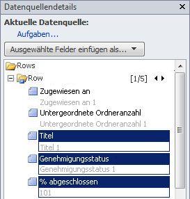 Geöffnete Website in SharePoint Designer2010