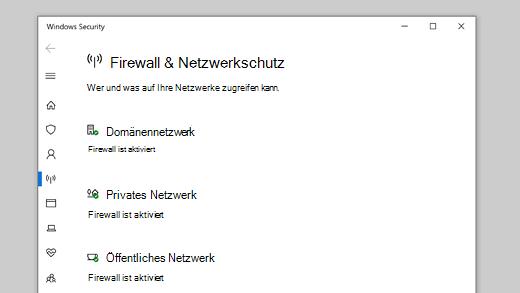 Firewall & Netzwerkschutz in Windows-Sicherheit