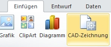 Schaltfläche 'CAD-Zeichnung einfügen'