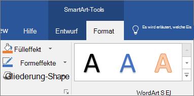Klicken Sie auf Form Füllung oder Formeffekte