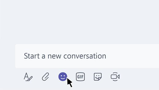 Senden einer Emoji in Teams