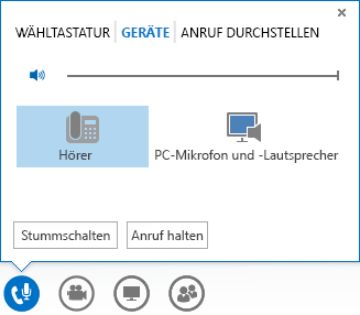 Screenshot der Audiooptionen