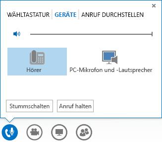 Screenshot der Audiooptionen