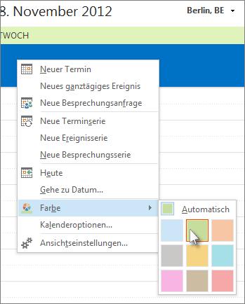 Outlook 2010 hintergrund andern