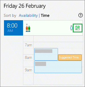 Kalender des Organisators