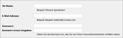 Ihre E-Mail-Adresse und Ihr Kennwort eingeben