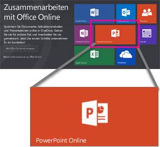 Wählen Sie PowerPoint Online