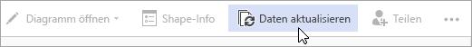 """Visio für die Option """"Daten aktualisieren"""" in der Web Public Preview"""