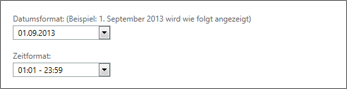 Outlook Web App-Einstellungen für Datums- und Zeitformat