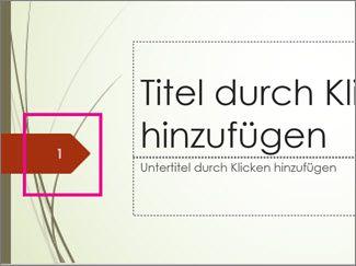 """Design """"Fetzen"""" mit Foliennummer"""