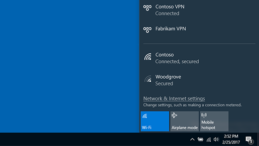 Mit einem VPN verbunden