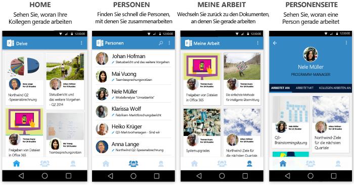 Delve für Android-Bildschirme