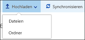 Office 365 – Hochladen von Dateien oder Ordnern in eine Dokumentbibliothek