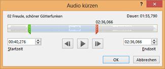 Kürzen eines Soundclips
