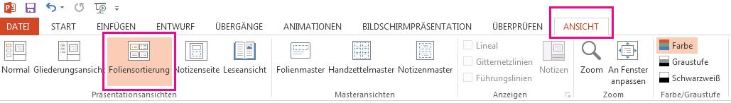 """Die Option """"Markieren"""" befindet sich auf der Registerkarte """"Start""""."""