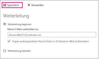 """Klicken Sie auf """"Weiterleitung starten""""."""