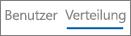 """Screenshot der Ansicht """"Verteilung"""" im Yammer-Geräteverwendungsbericht"""