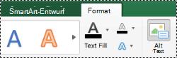 """Schaltfläche """"Alternativ Text"""" für SmartArt-Grafiken in Excel für Mac"""