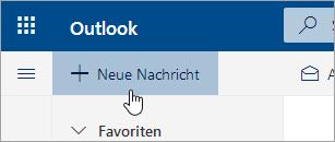 """Screenshot der Schaltfläche """"Neue Nachricht"""""""