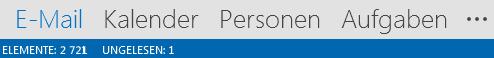 """Die Registerkarte """"Personen"""" befindet sich unten auf dem Outlook-Bildschirm."""