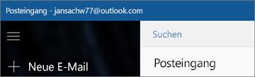 So sieht das Menüband aus, wenn Sie über die Mail-App für Windows 10 verfügen.