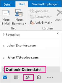 Outlook fügt Ihre PST-Datei mit einem allgemeinen Namen hinzu: Outlook-Datendatei.