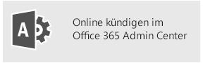 Online kündigen im Office 365 Admin Center
