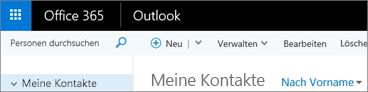 So sieht das Menüband aus, wenn Sie über Outlook im Web verfügen.